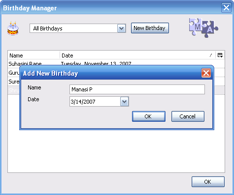 birthday manager add dialog